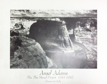 Canyon de chelly etsy for Ansel adams mural project 1941 to 1942