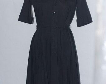 50's Little Black Shirt Dress by Westbury Fashions vintage