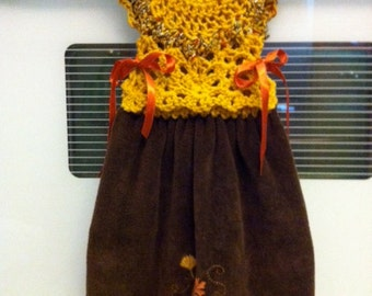 Over Oven Handle Dress Towel Topper / Pattern Only