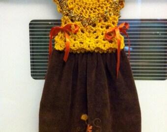 Crochet Pattern To Make A Kitchen Or Bath Towel Topper