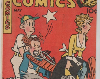 Magic Comics; Vol 1, 106 Golden Age Comic Book.  FN- (5.5). May 1948.  Dave McKay Productions