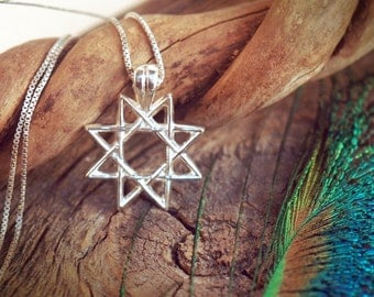 8-point star ~ Octagram ~ Sterling Silver Pendant