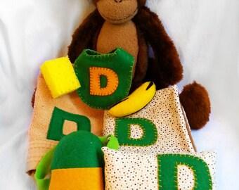 Personalized Stuffed Monkey - Educational Stuffed Animal