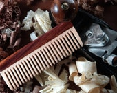 Mens Hair Comb - Maple and Cocobolo - Healthy Hair - Natural Grooming Kit - FREE SHIPPING