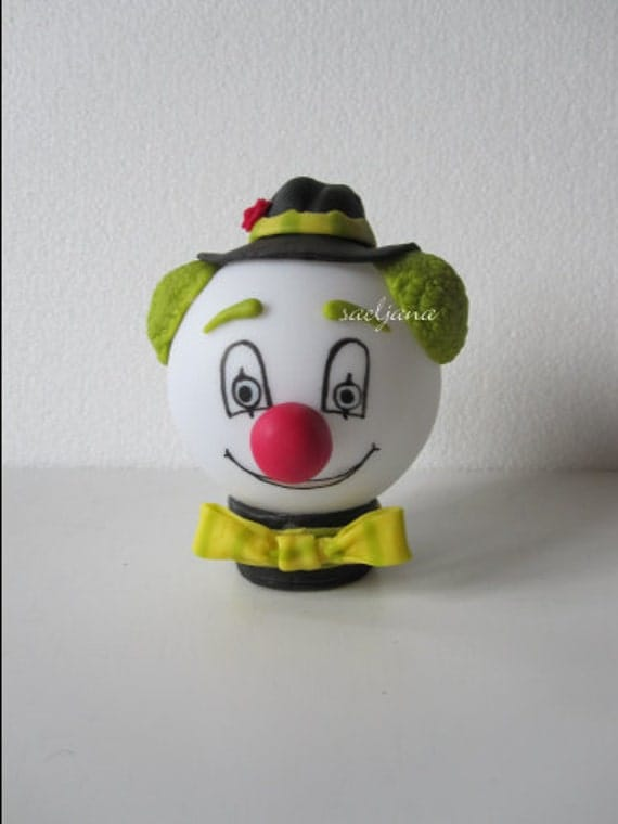 Nightlight : Funny face clown! Cold porcelain. Led.