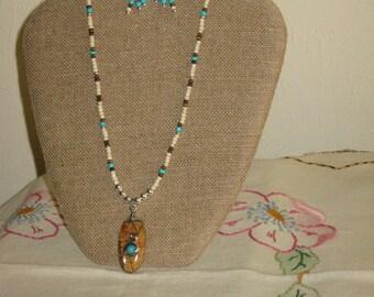 Great southwestern style custom designed beaded necklace set