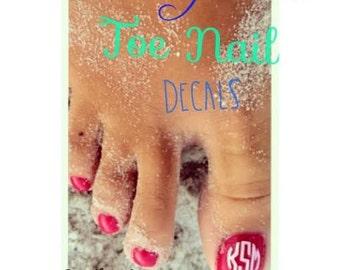 Monogram Toe Nail Decals