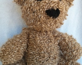 Anne the Hand Knit Teddy Bear, cute Bear, soft Bear, Gift, Stuffed Animal, Stuffed toy, bear plushie, bear softie, plush bear, stuffed bear