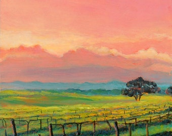 Vineyard painting etsy for Wine and painting mn