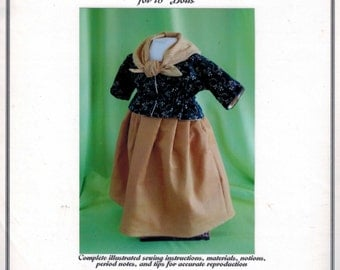 SALE COMPLETE KIT for 18 Inch Historical Doll 18th 19th Century Short Gown Plain Petticoat Dress Clothes Felicity American Girl Past Crafts