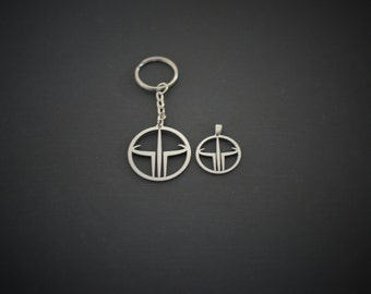 Quake Pendant or Keychain Stainless steel
