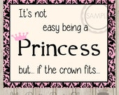 Printable 8x10 Princess Wall Hanging / Sign to Frame / Print *INSTANT DOWNLOAD*