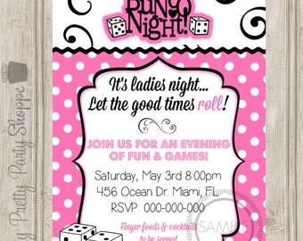 Bunco Night / Ladies Night Party Invitation