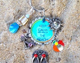 Just Beachy ~ Handmade Bottlecap Keychain