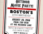 Outdoor Movie Party - Movie Party - Invitation - Customizable - You Print
