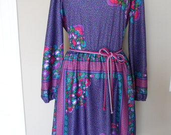 Vintage 1960's Kay Windsor Dress / Size 12 / Made in the USA / Excellent Vintage Condition