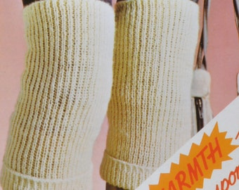 PDF knee warmers bed socks back warmer vintage knitting pattern INSTANT download pattern only pdf 1980s