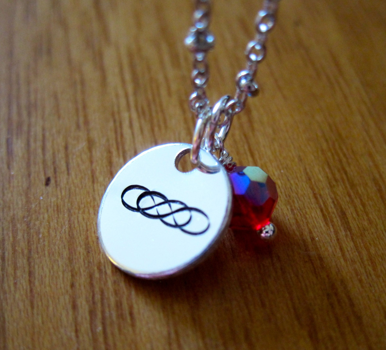 Revenge Inspired Necklace. Double infinity symbol. Emily Thorne. Hand  stamped silver colored with b2008d4be