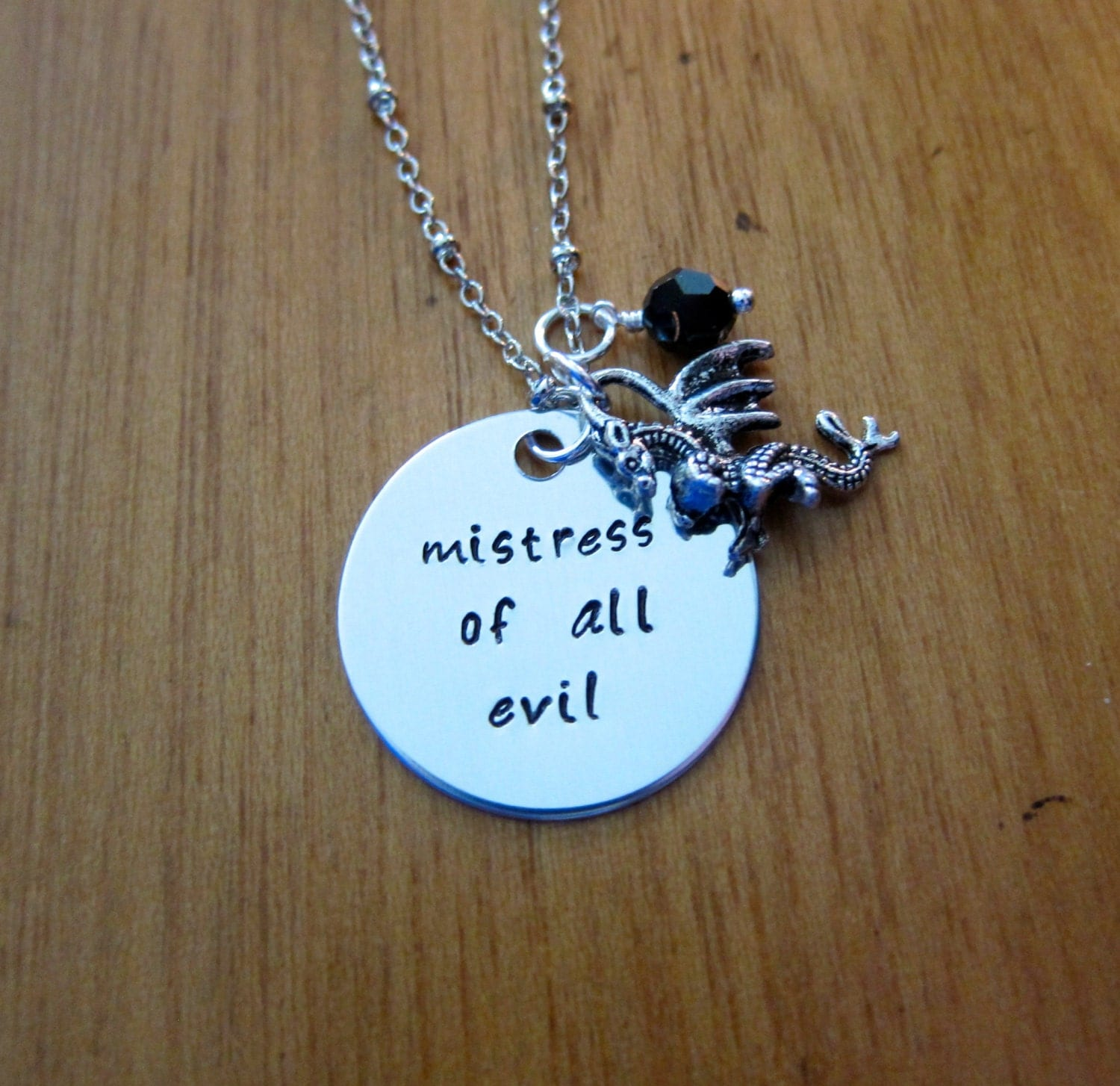 Sleeping Beauty Inspired Necklace Villain Maleficent