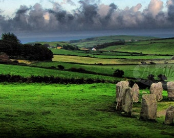 Drombeg Stone Circle Druid's Altar Ireland 30x90 High Quality Photo Print