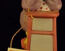VINTAGE Emmett Kelly Jr Collection Hobo Clown Flambro 1983 Porcelain Figurine Original Tag