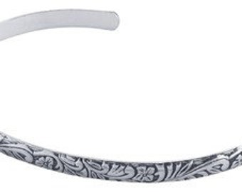 Handcrafted by BrianG Sterling Silver .925 Designer Floral Cuff Bracelet @ BrianGdesigns