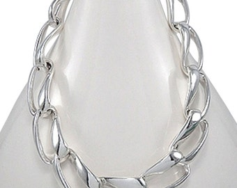 "Massive Bold Designer 18"" 22mm Modern Chic Statement Sterling Silver Necklace by BrianG at BrianGdesigns"