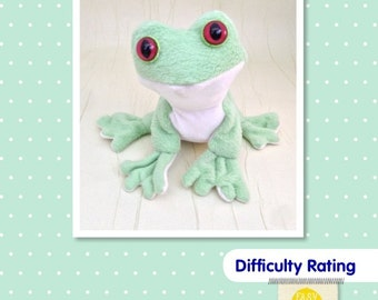 Frog Soft Toy Sewing Pattern.    Stuffed Animal