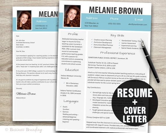 Resume Template Word / Cover Letter Template / Instant