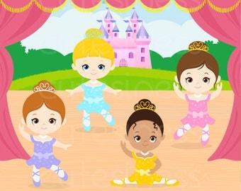 Ballet Digital Clipart , Ballet Clipart, Ballerina Clipart