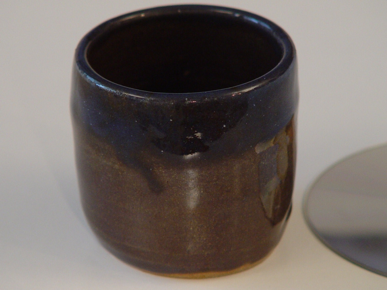 10 custom handleless tea mug white handmade stoneware mug rustic ceramic by - Handleless coffee mugs ...