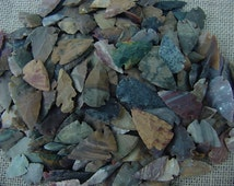 """10 bulk stone arrowheads bird points replica 1"""" to 1  1/2"""" inch agate and/or  jasper arrowheads arts crafts scout projects jewelry design"""