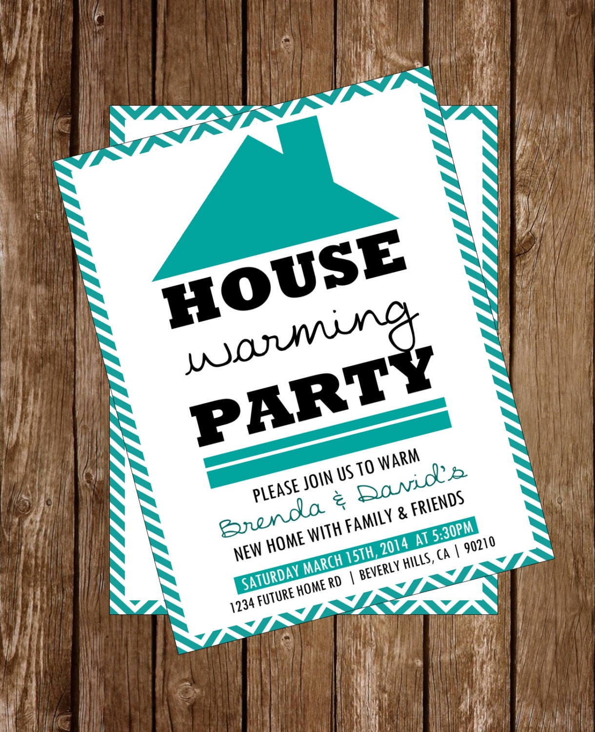 house warming party invitation printable by allibeepaperie. Black Bedroom Furniture Sets. Home Design Ideas