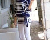 Womans Clothing, Woman's shirts,Striped Batwing T-Shirt, Striped dress, Summer T-shirt, Stripes