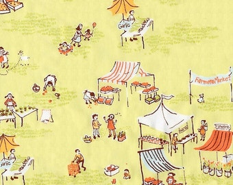 Heather Ross - Munki Munki Fabric - Farmers Market - Not Pajamas - OOP Out Of Print VHTF