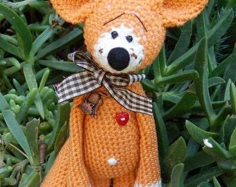 Crochet  pattern, fox. crochet fox - PDF pattern