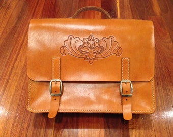 Leather Brief Case, Leather Satchel, Leather Macbook Bag, Leather Computer Bag, Leather Business Case, Leather Laptop Bag