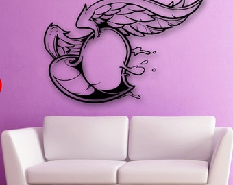 Wall Stickers Vinyl Decal Love Heart Romantic Cupid Wedding (ig1844)