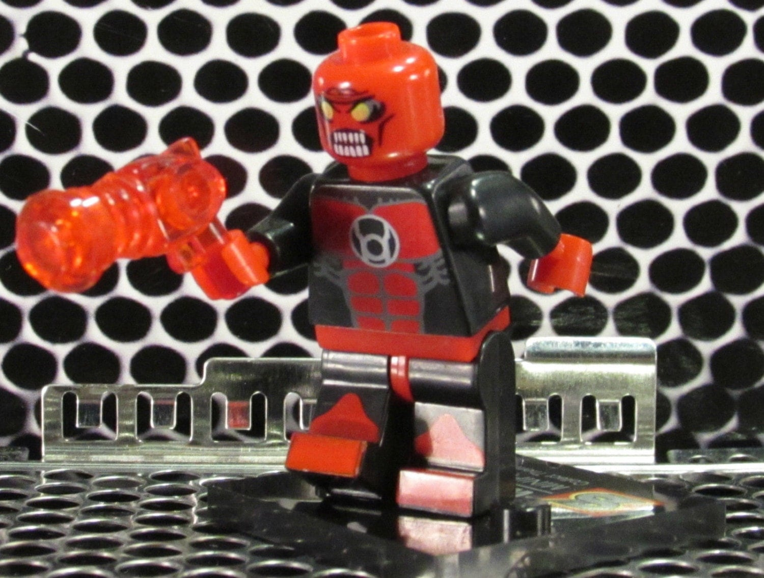 Custom ATROCITUS RED LANTERN Corps Lego-size Minifigure w/red