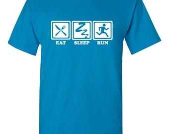 Eat sleep run Tshirt, running tshirt, runner's clothes, running clothes, runner tee, working out tshirt, workout tee BD-073