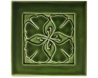 Ginkgo Art Tile (Green)