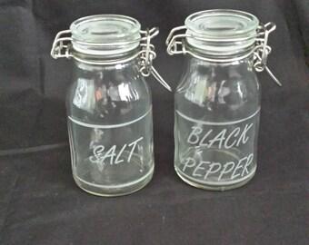 1 Mini Mason Jars Mugs Glass Salt Amp Pepper Jar Shakers For Diy