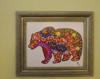 California Bear Art Print