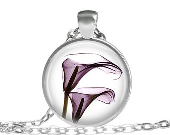 Flower Necklace, Purple Flower, Gift, Earth Day, Mothers Day, Graduation Gift, Gifts For Her, Stunning Purple Flower Necklace Flower Pendant