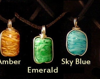 Hand Crafted Glass Cremation Pendant