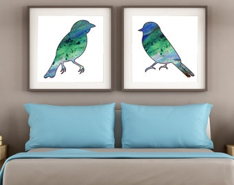 Love Birds Print - Love Birds Wall Art - Bird Art - Bird Wall Art - Bird Wall Decor - Bird Print - Wedding Gift