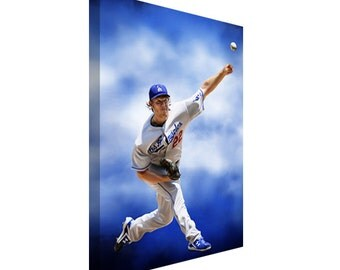 FREE SHIPPING: Los Angeles Dodgers Clayton Kershaw Canvas Art Painting