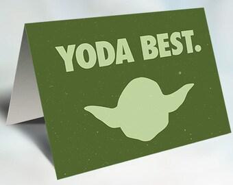 Star Wars Yoda Card Printable