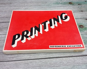 Set Printing. Pads - Child printing. 10 stamps stamp theme aviation. 60's. French vintage