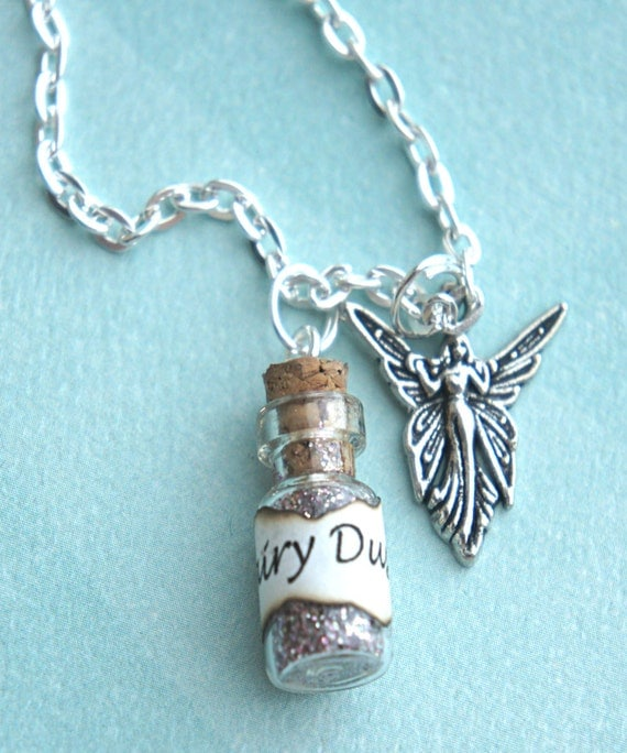 dust necklace bottle necklace potion by